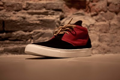 Desert Boots Patchwork Red&Black Suede