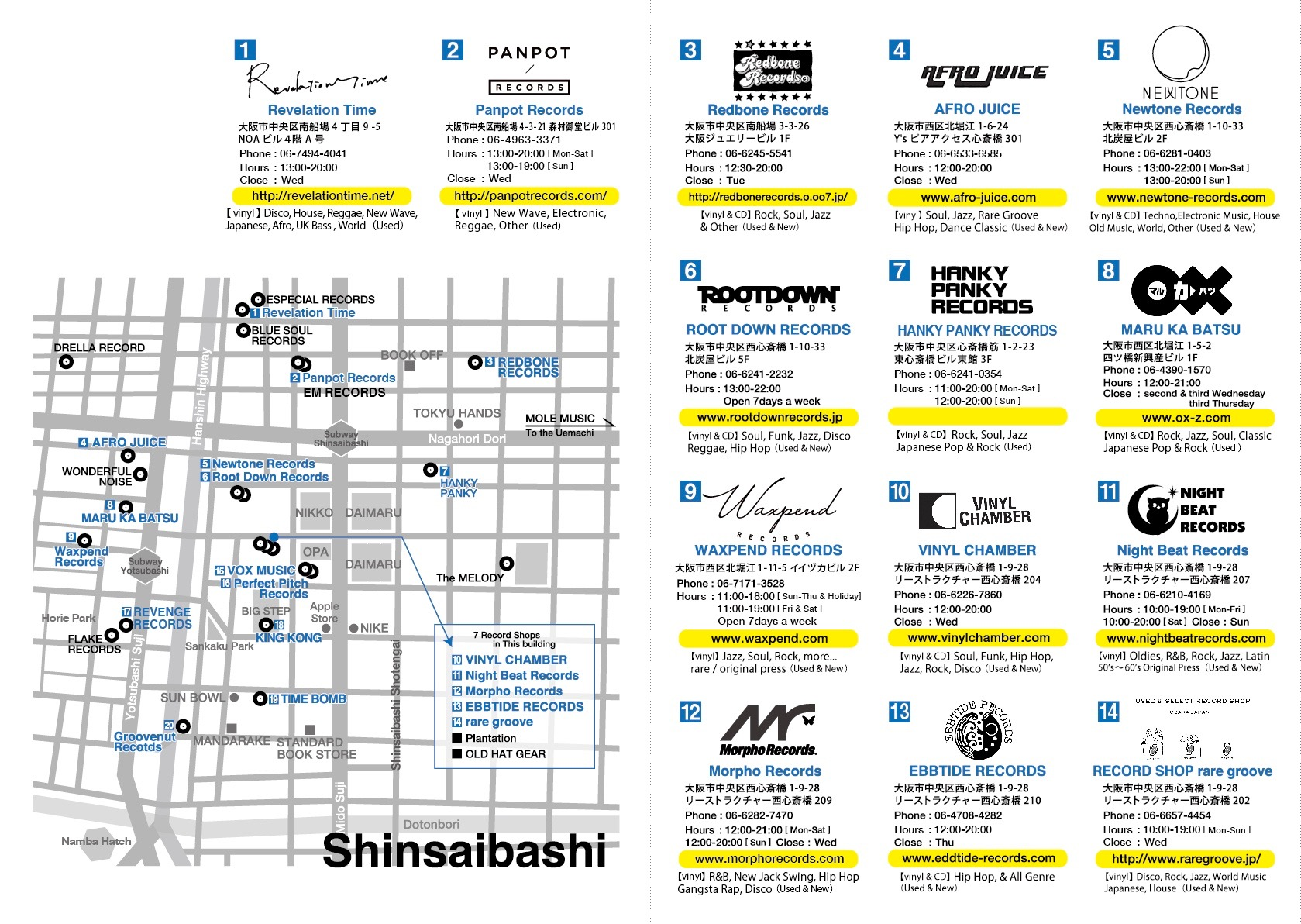 osaka-record-map-2018-02 | Groovenut Records Blog