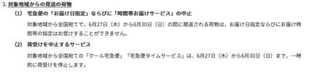 G20サミット大阪に伴う商品発送の影響
